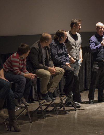 Derek sharing stories at the Grand River Film Festival